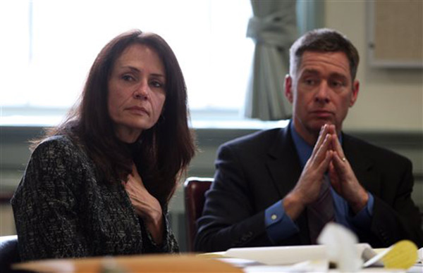 Elizabeth and Sean Canning listen to testimony in Morris County Superior Court in Morristown, N.J., Tuesday, March 4, 2014.  <span class=meta>(&#40;AP Photo&#47;Daily Record, Bob Karp, Pool&#41;)</span>