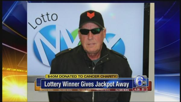 Lottery winner gives away jackpot