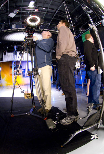 The crew setting up  <span class=meta>(WPVI Photo)</span>