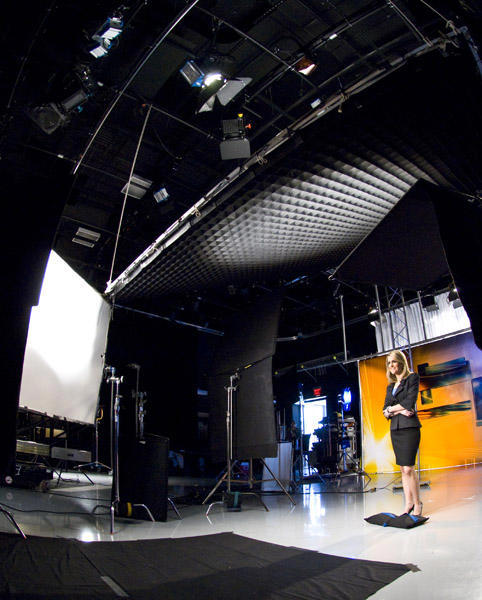 Wide shot of the set with Ali Gorman <span class=meta>(WPVI Photo)</span>
