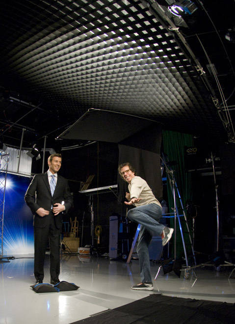 Director Peter Churchman showing off his moves <span class=meta>(WPVI Photo)</span>