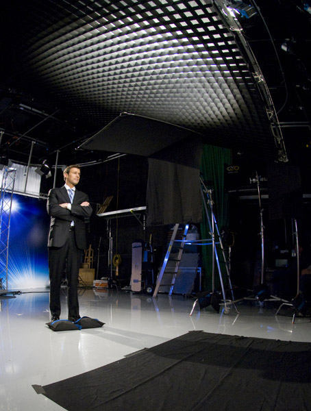 Brian Taff ready on set <span class=meta>(WPVI Photo)</span>