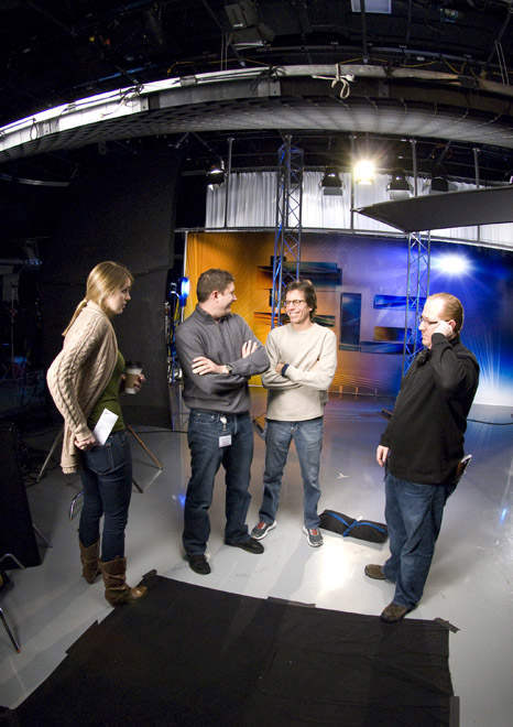 Director Peter Churchman chats with the crew  <span class=meta>(WPVI Photo)</span>