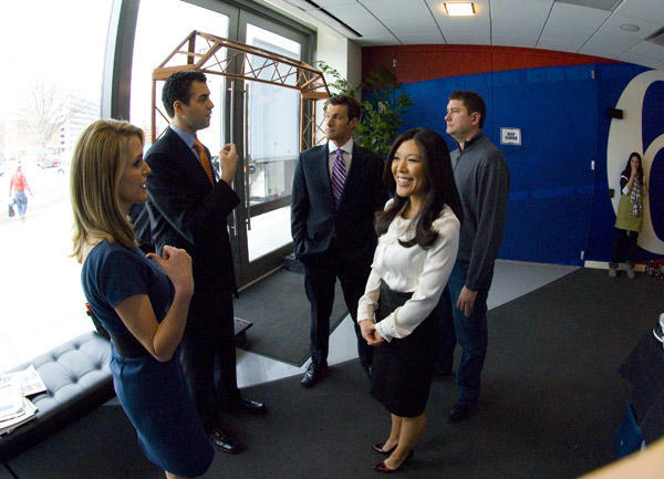 Action News reporters wait outside the studio <span class=meta>(WPVI Photo)</span>
