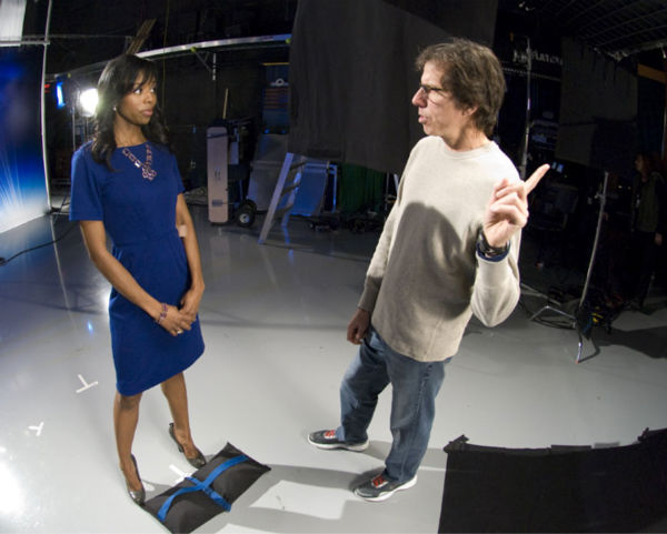 Meteorologist Melissa Magee and director Peter Churchman <span class=meta>(WPVI Photo)</span>