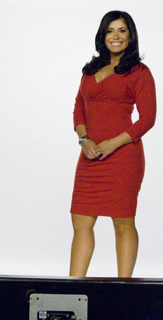 Alicia Vitarelli smiling during a take  <span class=meta>(WPVI Photo)</span>
