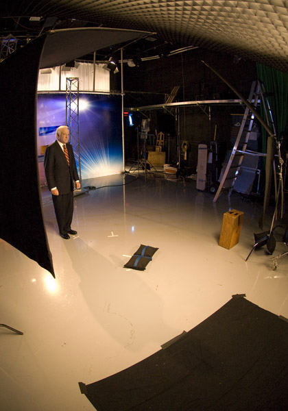 Jim ready on set   <span class=meta>(WPVI Photo)</span>