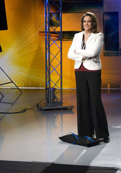 Lisa Thomas-Laury on set <span class=meta>(WPVI Photo)</span>