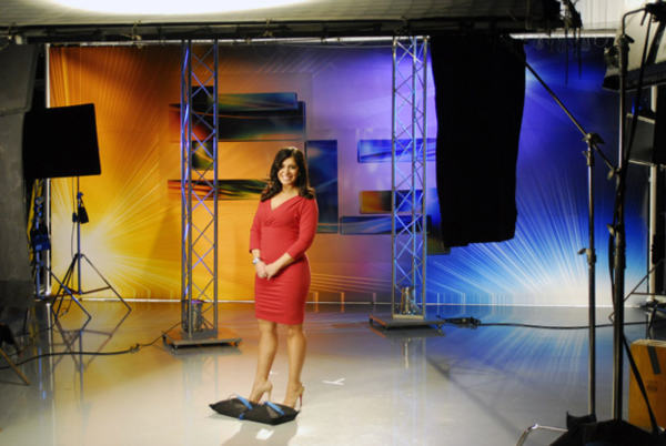 Alicia smiling on set <span class=meta>(WPVI Photo)</span>