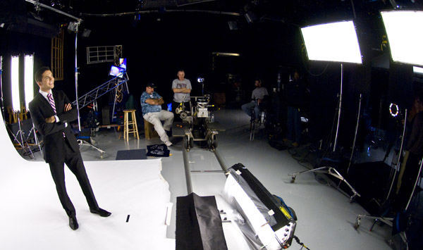 A behind the scenes look with Adam Joseph on set  <span class=meta>(WPVI Photo)</span>