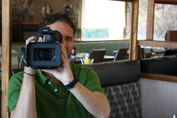 Tim Fenstermacher shoots behind the scenes footage!  <span class=meta>(WPVI Photo)</span>