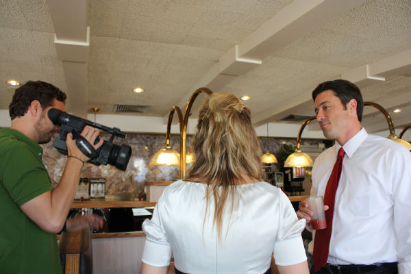 Tim gets behind the scenes footage of everything going on at the shoot! <span class=meta>(WPVI Photo)</span>