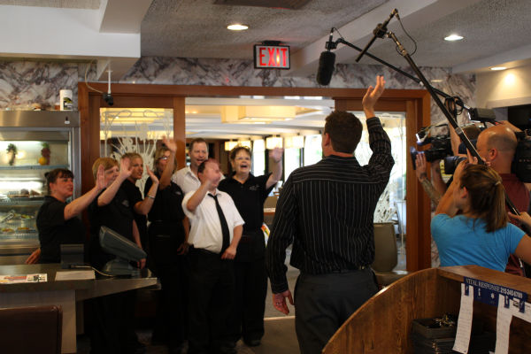 &#34;Thank you Action News!&#34; The awesome staff of the Country Squire Diner   <span class=meta>(WPVI Photo)</span>