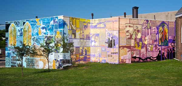 "<div class=""meta ""><span class=""caption-text "">Family Interrupted © 2012 City of Philadelphia Mural Arts Program / Eric Okdeh Photo by Mike Reali - Family Interrupted sparks a dialogue around the impact of incarceration on families and the community at-large through the mural-making process. It was painted by inmates at SCI Graterford and their family and friends, members of the community, and others during paint days.   (Eric Okdeh - (Photo by Mike Reali))</span></div>"