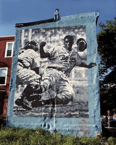 Tribute to Jackie Robinson Artists: McShane, David  Address: 2803 N Broad St