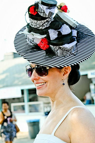 The popular Ladies Hat Contest at The Devon Horse Show drew over 50 fabulous women on Wednesday-sporting their finest fashion and hats! Pictured here is Tiffany Archard Arey of Schwenksville.