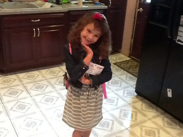 Ava's first day of 2nd grade at Logan Elementary.