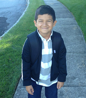 This is Angelo on his first day of preschool in West Chester, PA.