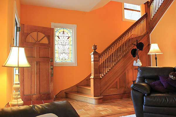 "Gregory and Sandy Leeson have put their home in Dunmore, Pa. up for sale, describing it as 'slightly haunted.'   The 113-year-old Victorian has four bedrooms, two-and-a-half bathrooms and ""the occasional ghastly visage"" in the bathroom mirror.  If you're not put off by the screams at 3:13 a.m., this house can be yours for $144,000."