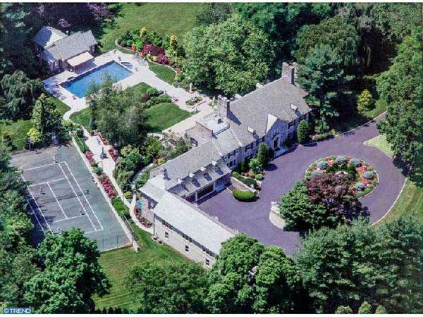 The home of former 76ers owner, author and entrepreneur Pat Croce is on the market for $7.95 million.  It's located at 835 Mount Moro Road in Villanova, Pa.  For more, visit the listing on LaviniaSmerconish.com.