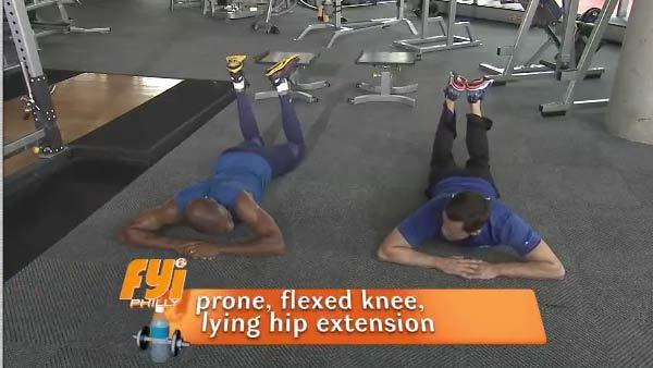 Spring into Shape: Prone Flexed Knee Lying Hip Extension