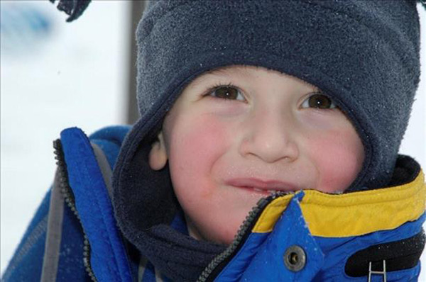 Cameron was dismissed early from school only to bundle up and head straight outdoors for hours of fun in the snow.