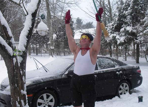 Submitted caption:   Vineland Super Hero!     Send your Snowtographs to 6abc.com!  CLICK HERE