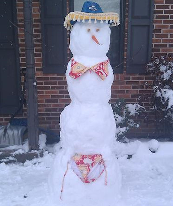 This snowman in Horsham is dreaming of a vacation to Mexico!   Send your Snowtographs to 6abc.com!  CLICK HERE