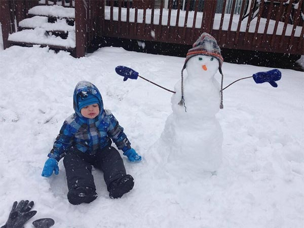 Great day for building a snowman! Submitted by: Staci