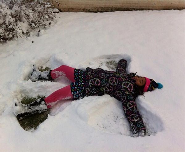 Snow angel Submitted by: Neliza Lao