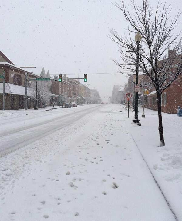 From DJarnaldo: Snowy street in West Chester