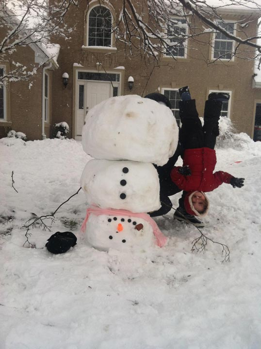 Viewer Photo from February 3rd snowstorm: Upside down snow day