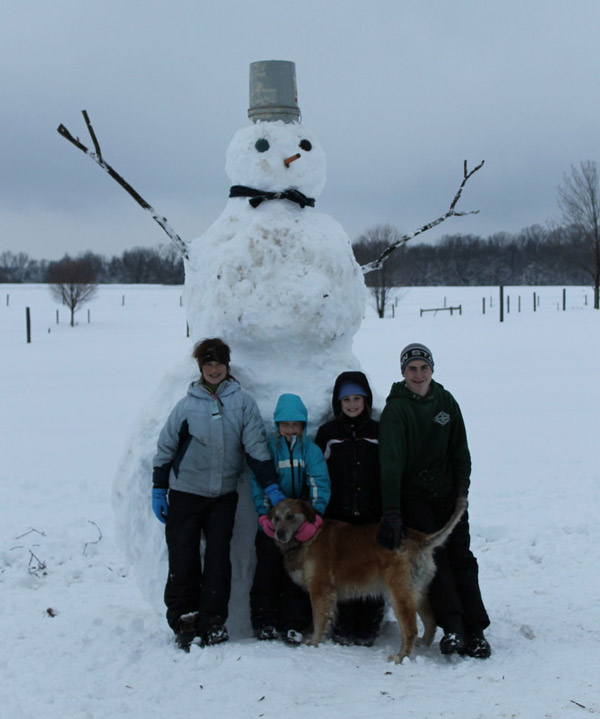 Viewer Photo from February 3rd snowstorm: There's a BIG snowman at the Meyer House in Parkesburg PA.
