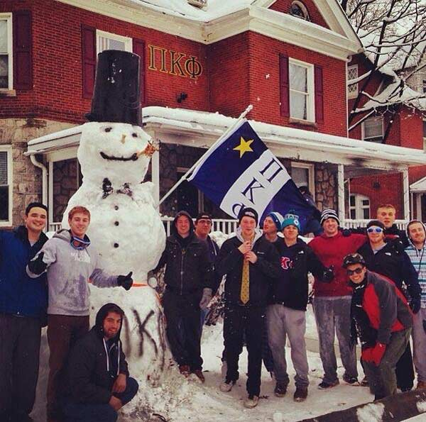 Viewer Photo from February 3rd snowstorm: PiKapp WestChester
