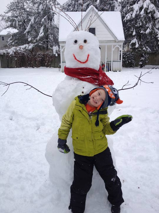 Viewer Photo from February 3rd snowstorm: Tucker's Snowman