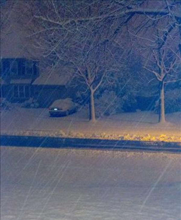 From Sendit.6abc.com: Snow in Bensalem, Pa.
