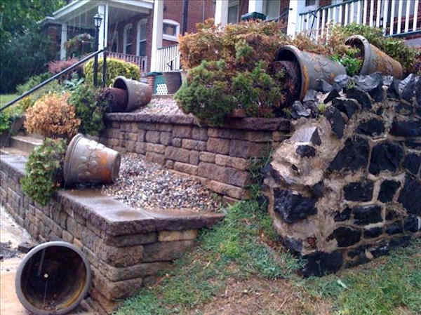 Submitted through sendit.6abc.com.  Caption: Wind toppled all her container plants on West 7th Street!