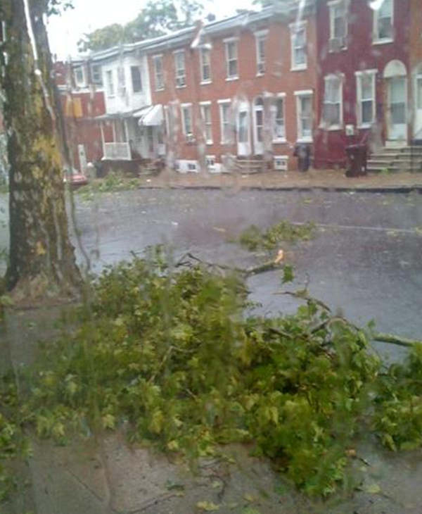 Pictured: North Van Buren Street in Wilmington, Delaware after an afternoon storm.  Submitted by: Ivory Courts.