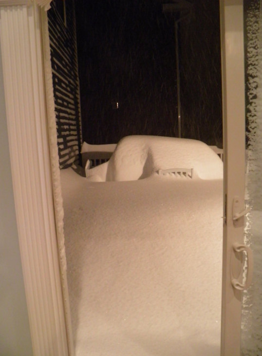 Andrew Capers sent in these pictures of the snow from near Manasquan, N.J.