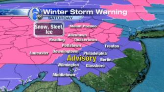 AccuWeather has the latest projections for Saturday's snow and ice.