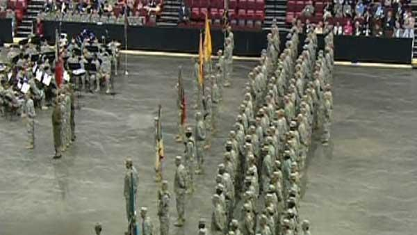 NC  National Guard soldiers honored at RBC Center