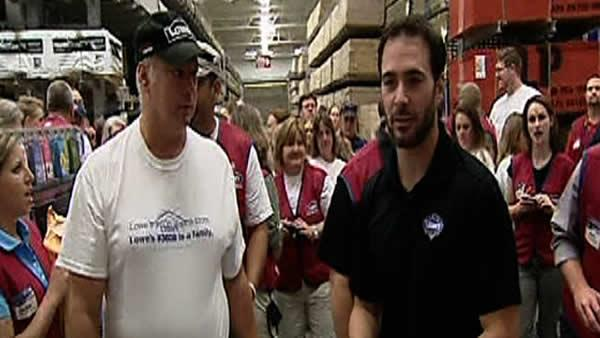 Jimmie Johnson on hand for Lowe's store reopening