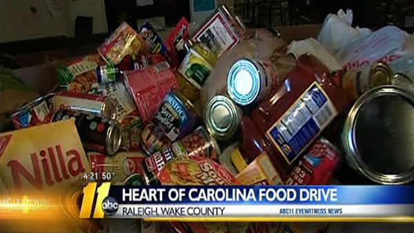Heart of Carolina Food Drive kicks off