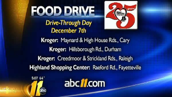 Heart of Carolina Food Drive 6:05 a.m.