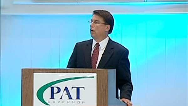McCrory revs campaign without Perdue as opponent