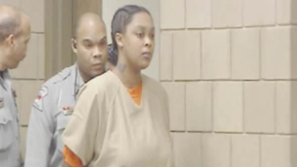 Shaniya Davis' mother Antionette Davis at a court appearance Feb. 9