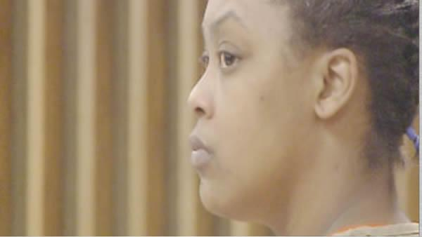 Shaniya Davis' mother Antionette Davis at a court appearance Feb. 9, 2012.