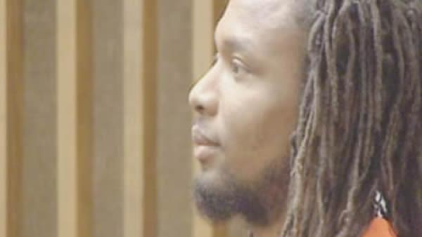Mario McNeil at a court appearance Feb. 9, 2012