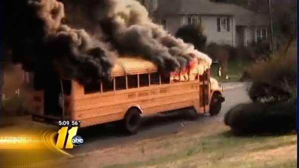 Schools use same bus model that caught fire
