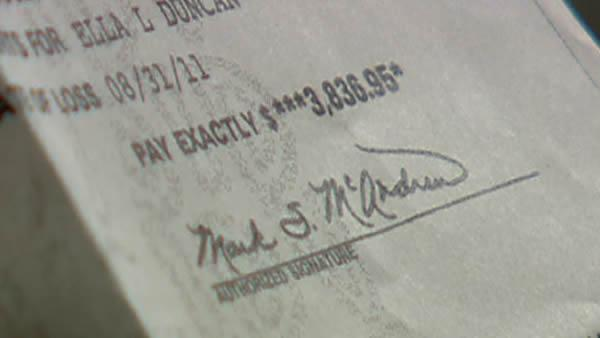Woman upset over mother's life insurance check